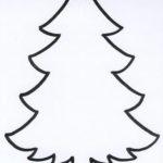 Árbol de navidad dibujo para colorear