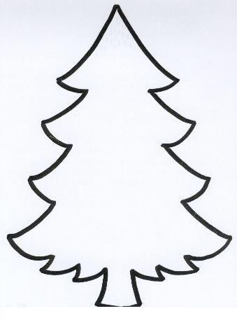 Árbol de navidad dibujo fácil