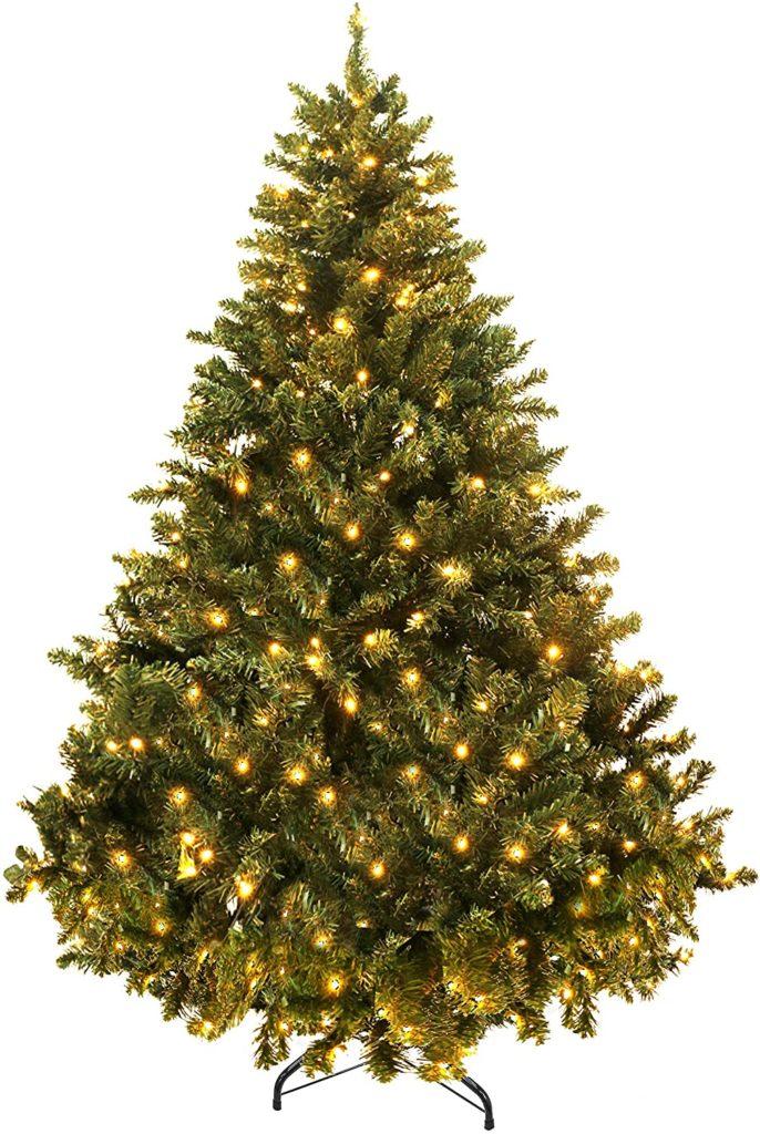 YOUKE Árbol de Navidad Artificial Árbol Pino Decoración Navideña Soporte Metálico Árboles