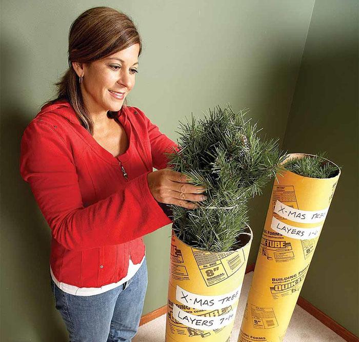 Guardar el árbol de navidad en tubo