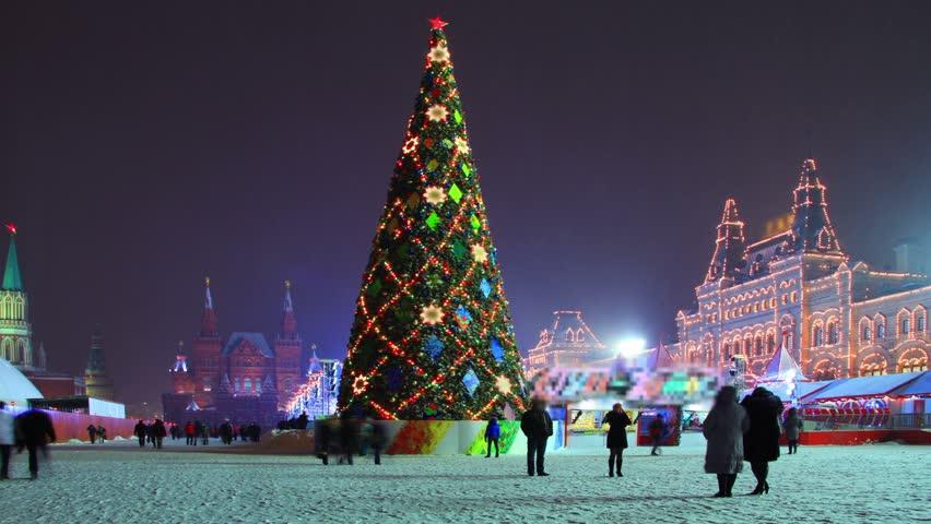 Árbol de Navidad | Plaza de la catedral, Rusia